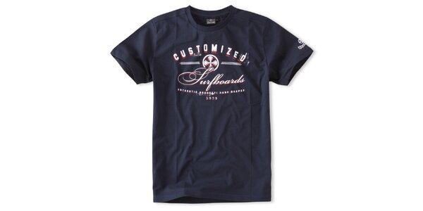 Pánske temno modré tričko Brunotti s potlačou