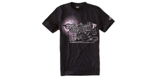 Pánske čierne tričko Brunotti s potlačou