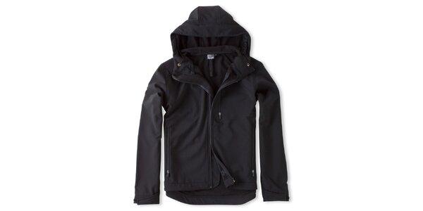 Pánska čierna bunda s kapucňou Brunotti