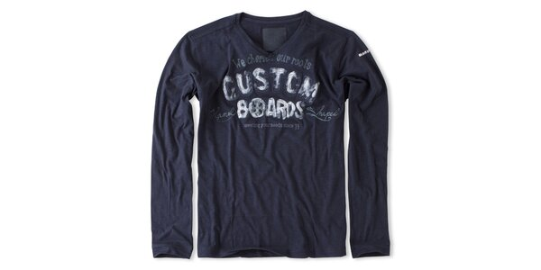 Pánske tmavo modré tričko s potlačou Brunotti