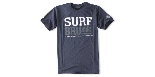 Pánske námornícky modré tričko s nápismi Brunotti