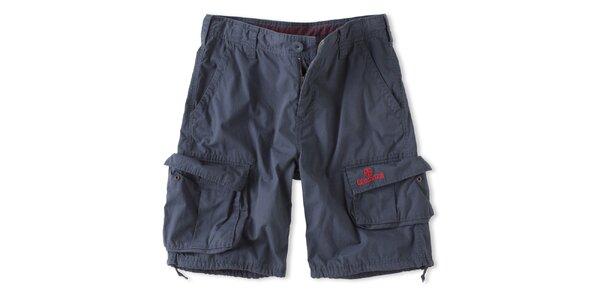 Pánske modré šortky s vreckami Brunotti