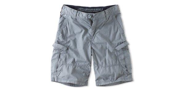 Pánske svetlo šedé šortky Brunotti