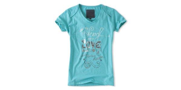 Dámske tyrkysové tričko s krátkými rukávmi Brunotti