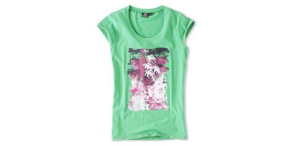 Dámske zelené tričko s potlačou Brunotti