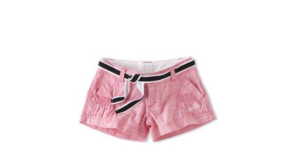 Dámske ružové krátké šortky Brunotti