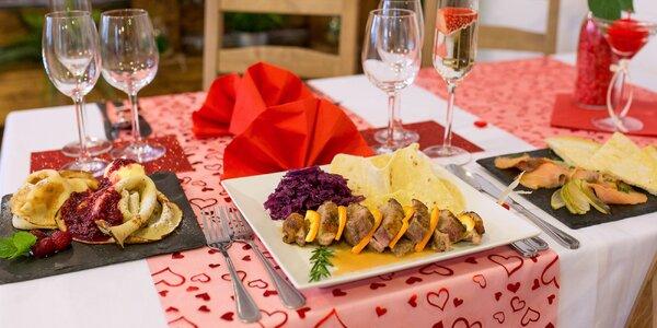 Valentínska večera pre 2 osoby