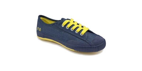 Dámske modro-žlté nízke tenisky Shulong