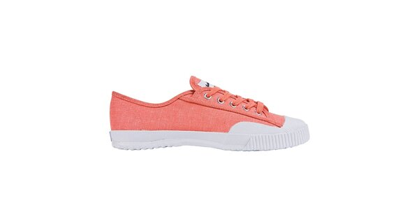 Dámske nízke oranžovo-biele tenisky Shulong
