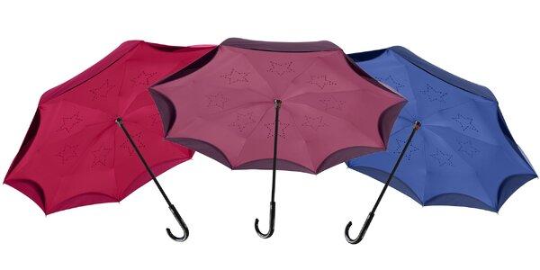 Jedinečné obrátené dáždniky Up & Down Reversible