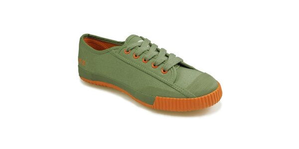Oranžovo-zelené nízke tenisky Shulong