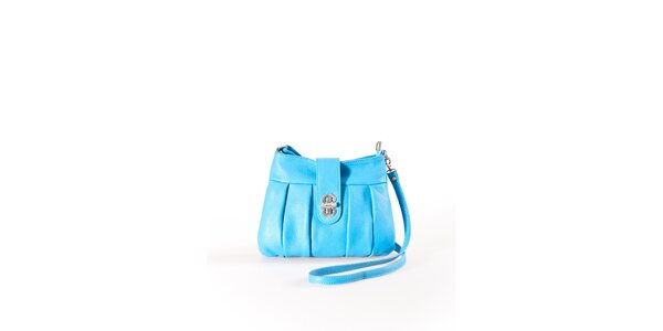 Dámska tyrkysová mini kabelka na zámoček Luisa Vannini