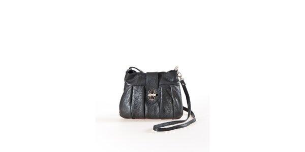 Dámska čierna mini kabelka na zámoček Luisa Vannini