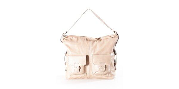 Dámska béžová kabelka s dvomi vreckami Luisa Vannini