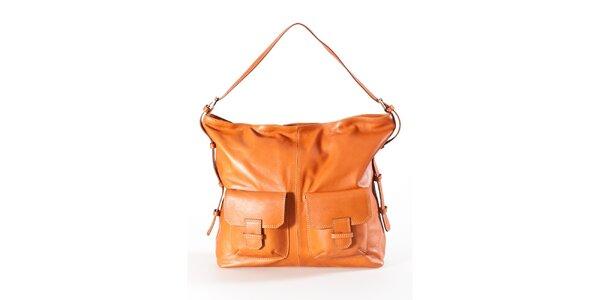 Dámska koňaková kabelka s dvomi vreckami Luisa Vannini