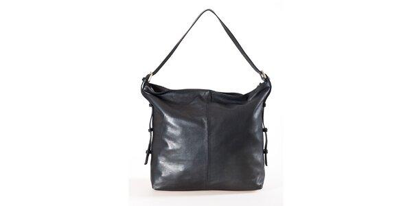 Dámska čierna kabelka s dvomi vreckami Luisa Vannini