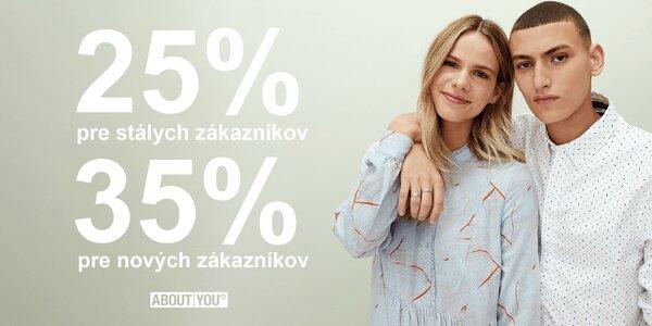 Zľava do módneho e-shopu About You vo výške 25–35 %