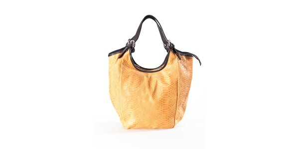Dámska ťavia kabelka s hadím vzorom Luisa Vannini