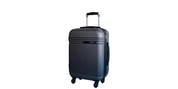 Šedý cestovný kufor na koliečkach Movom
