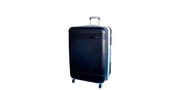 Tmavo modrý cestovný kufor na koliečkach Movom