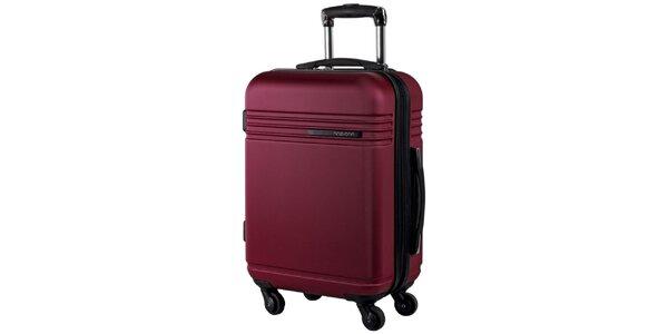 Vínový cestovný kufor na koliečkach Movom