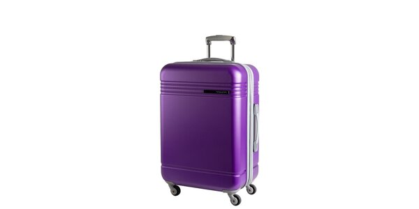 Fialový cestovný kufor na koliečkach Movom