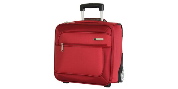 Červený cestovný kufor na koliečkach Movom