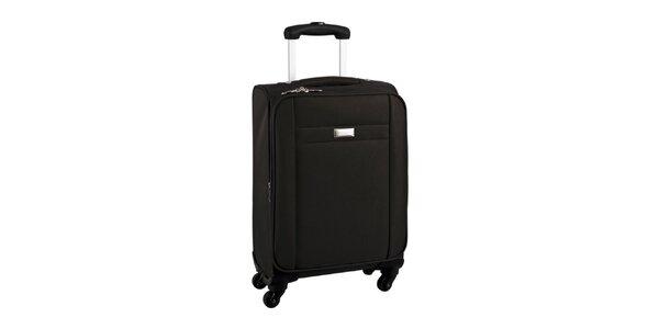 Čierny cestovný kufor na koliečkach Movom