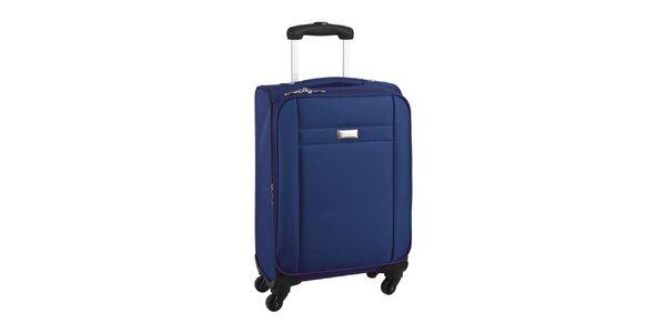 Modrý cestovný kufor na koliečkach Movom