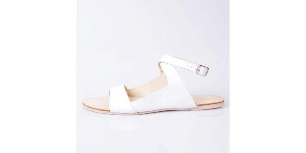 Dámske biele kožené sandálky GAS