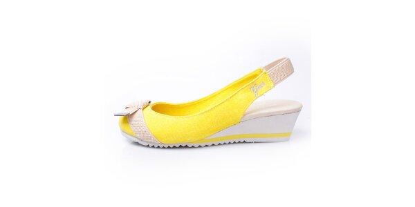 Dámske žlto-béžové sandálky GAS