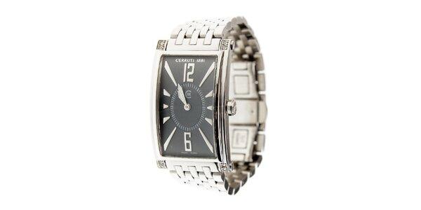 Dámske ocelové hodinky Cerruti 1881 s čiernym ciferníkom