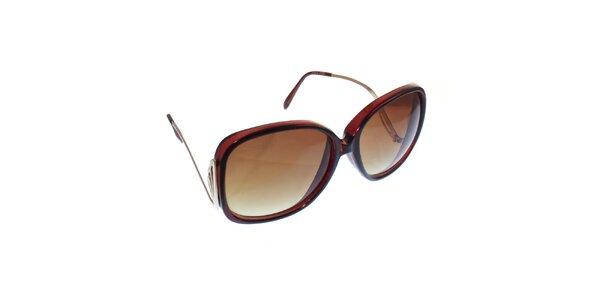 Dámske hnedé priesvitné okuliare s nízkymi nožičkami Jeepers Peepers