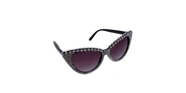 Dámske mačacie okuliare s perličkami Jeepers Peepers
