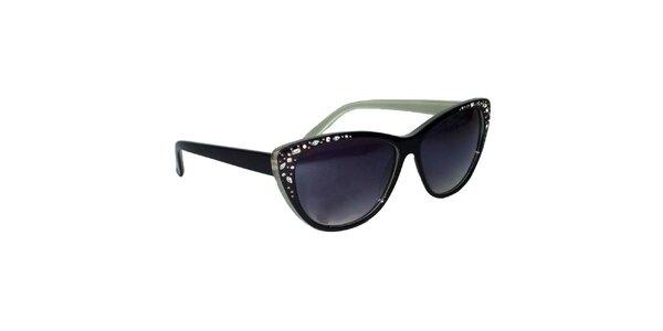 Dámske čierne mačacie slnečné okuliare Jeepers Peepers