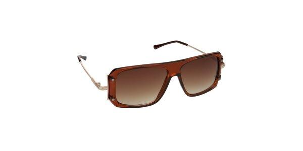 Dámske hnedé priesvitné okuliare Jeepers Peepers