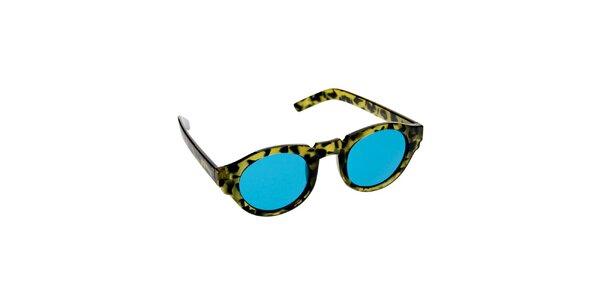 Dámske zeleno-tyrkysové slnečné okuliare Jeepers Peepers