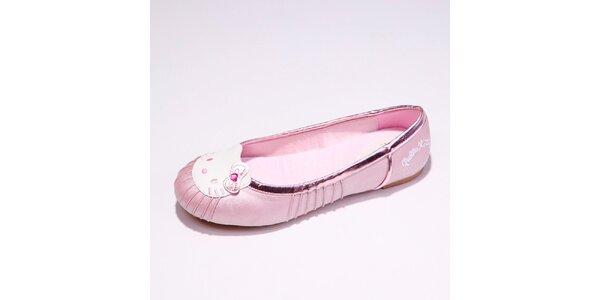 Dámske svetlo ružové baleríny s mačičkou Hello Kitty