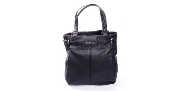 Dámska čierna kabelka s výraznými švami Sisley