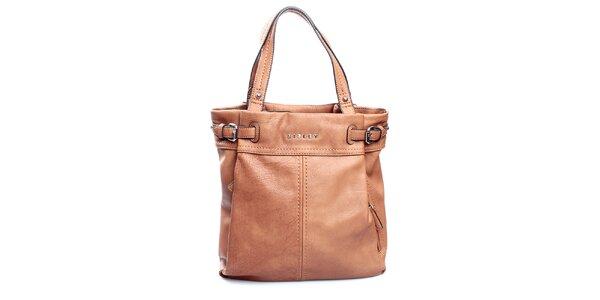 Dámska ťavia kabelka s výraznými švami Sisley