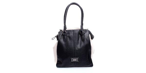 Dámska čierno-krémová kabelka Sisley