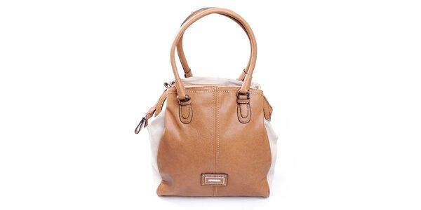 Dámska krémovo-ťavia kabelka Sisley