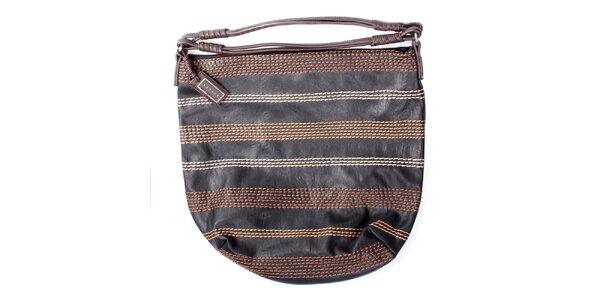 Dámska čierna kabelka s prešívaním Sisley