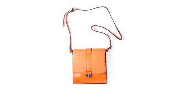 Dámska oranžová kufríková kabelka Sisley
