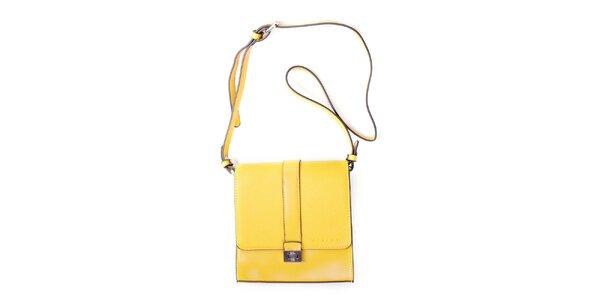 Dámska žltá kufríková kabelka Sisley