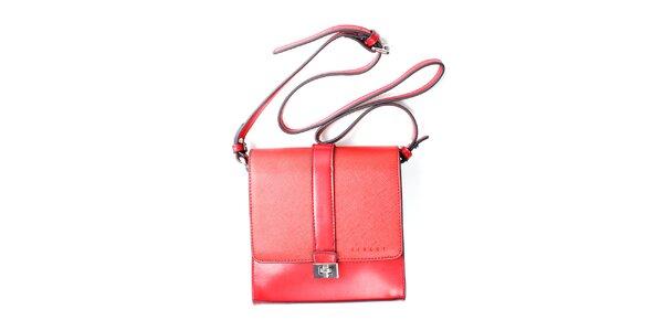 Dámska červená kufríková kabelka Sisley