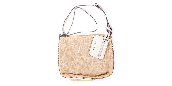Dámska béžová kabelka s peňaženkou Sisley