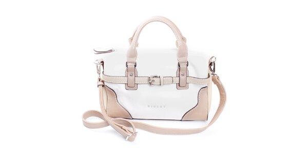 Dámska béžovo-biela kabelka do ruky Sisley