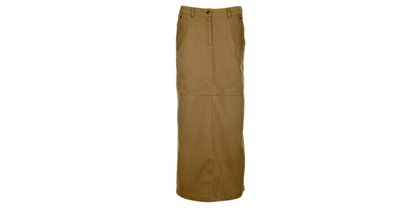 Dámska khaki dlhá sukňa Bushman