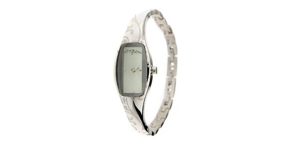 Dámske oceľové hodinky Oxbow so svetlo modrým ciferníkom